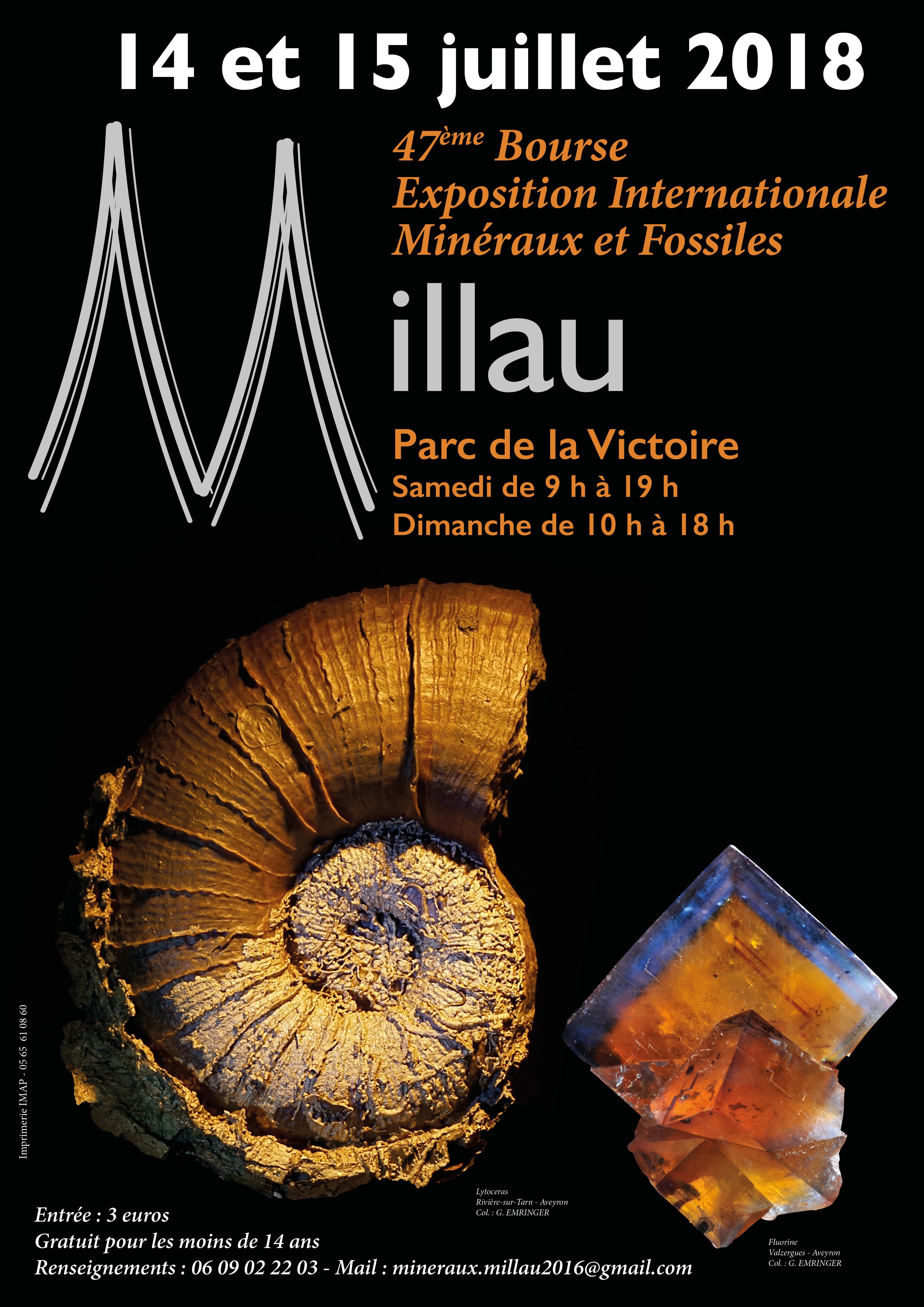 EXPOSITION INTERNATIONALE MINÉRAUX ET FOSSILES