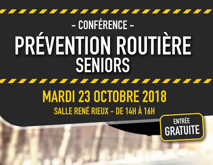 23 OCTOBRE – Conférence sur la Prévention Routière Seniors