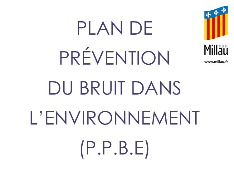 Plan de Prévention du Bruit dans l'Environnement (P.P.B.E.)